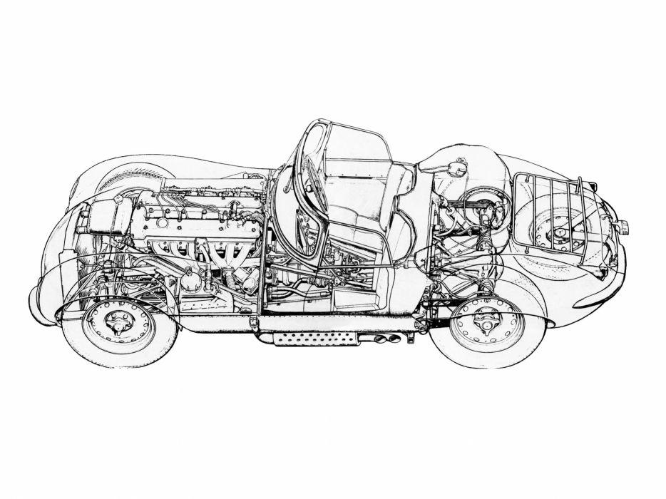 1957 Jaguar XK-SS retro x-k s-s wallpaper