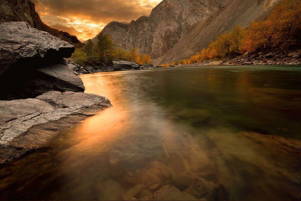 Altai autumn river wallpaper