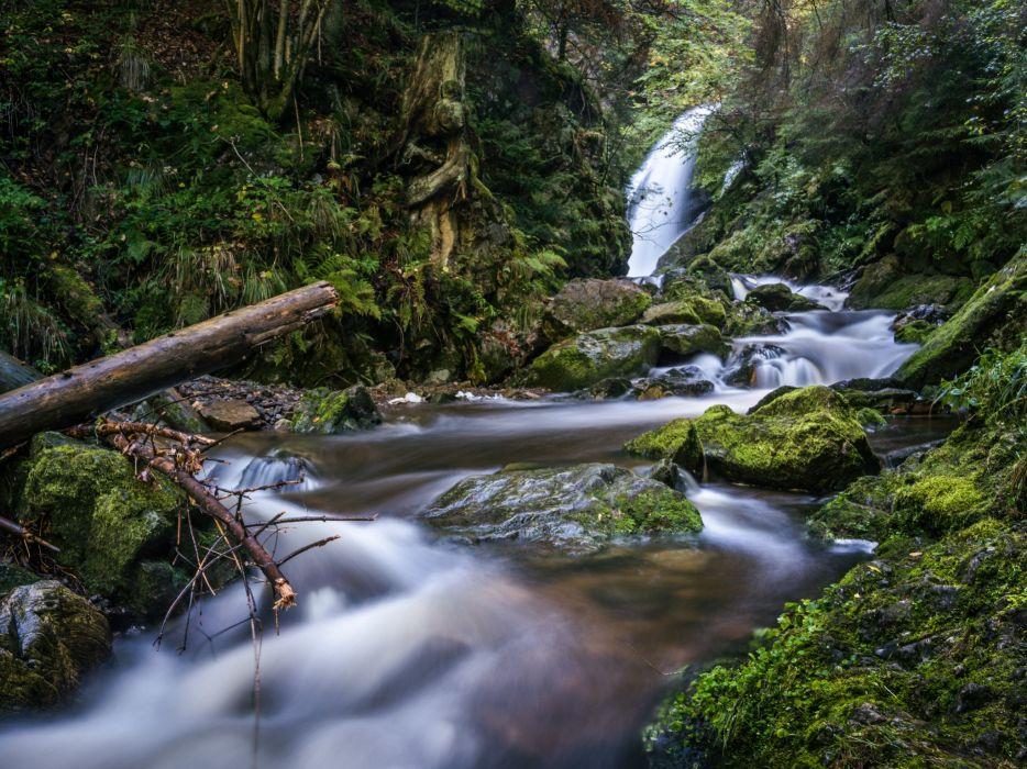 baden-wurttemberg freiburg germany landscape rocks stream stream landscape river moss wallpaper