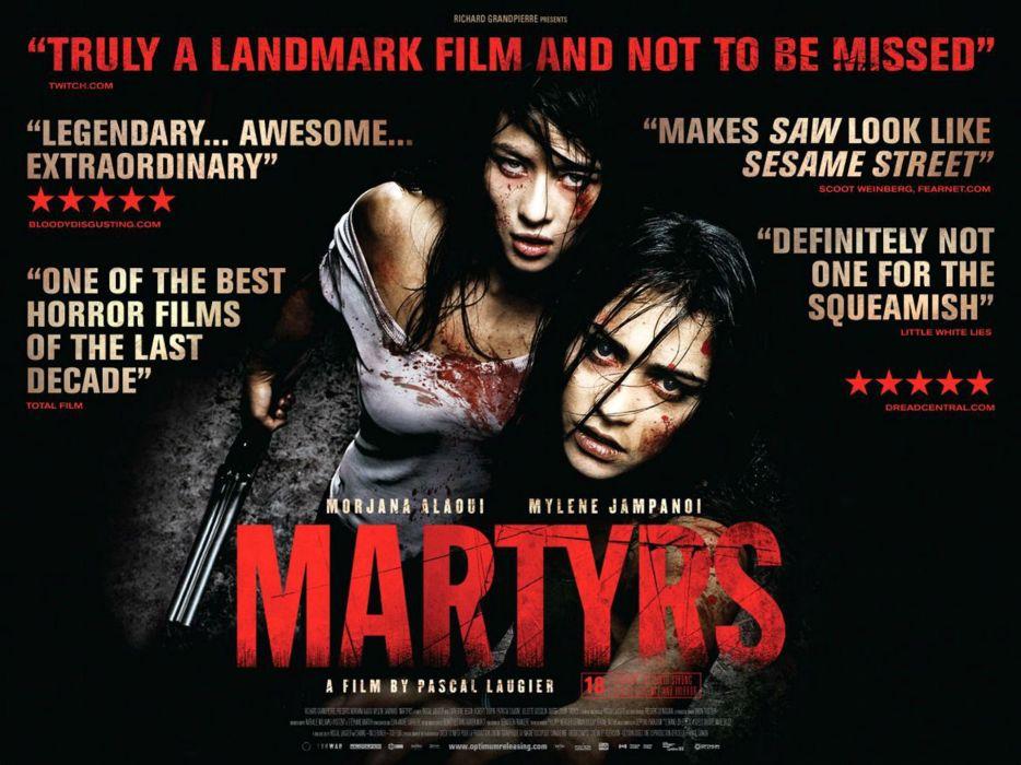 MARTYRS drama horror dark blood poster wallpaper
