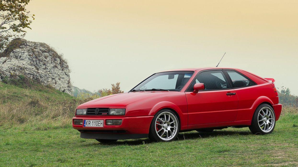 volkswagen corrado cars coupe germany wallpaper