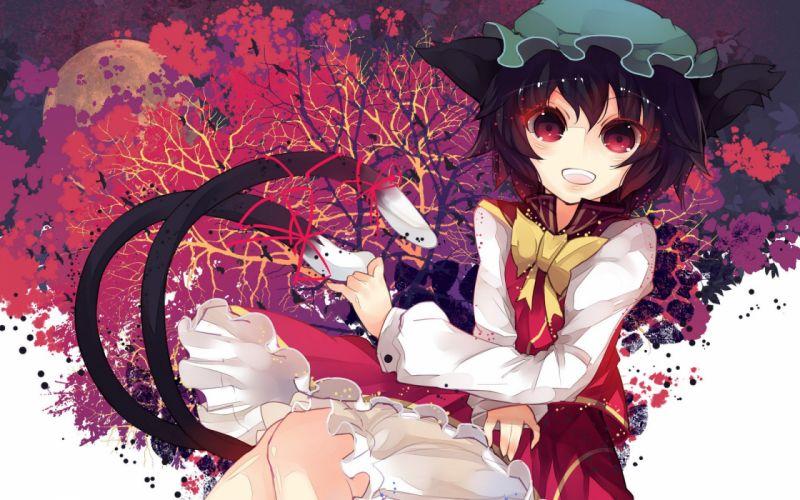 kitty girl red eyes anime cute wallpaper