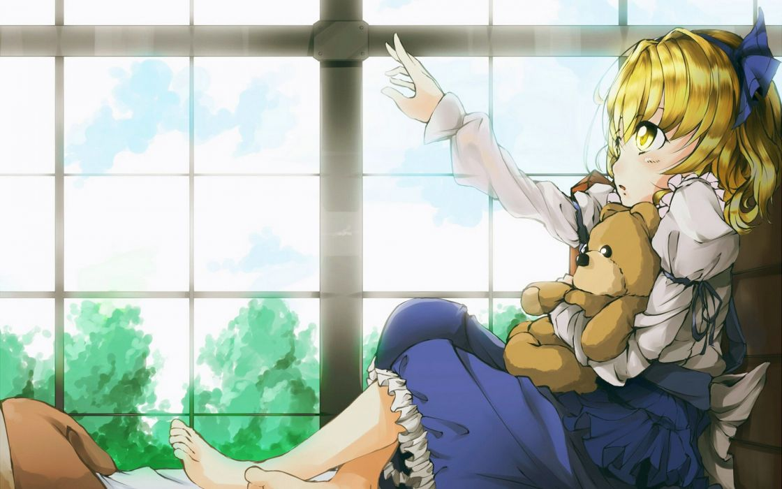 Alice-toys cute window sunlight trees wallpaper