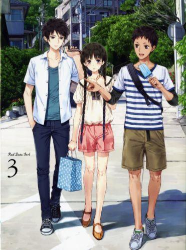 RDG Red Data Girl anime series friend summer ice cream wallpaper
