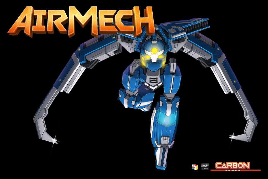 AIRMECH mecha sci-fi fighting fron line assembly mech online wallpaper