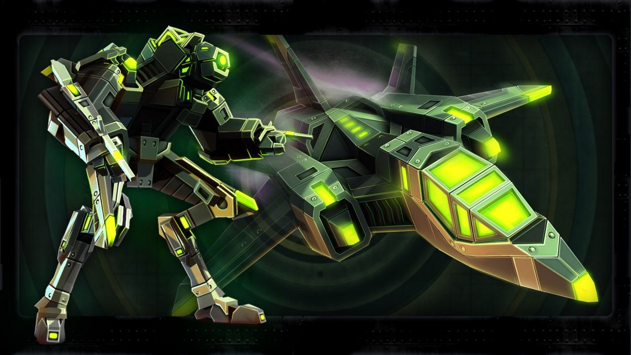 AIRMECH mecha sci-fi fighting fron line assembly mech online wallpaper