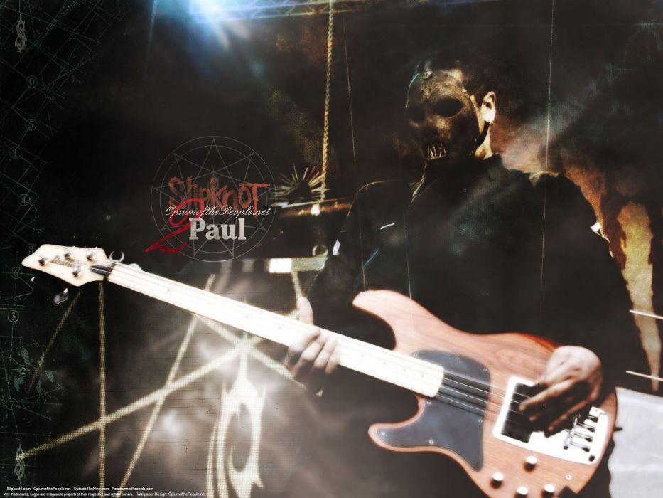 SLIPKNOT nu-metal groove metal heavy guitar concert wallpaper