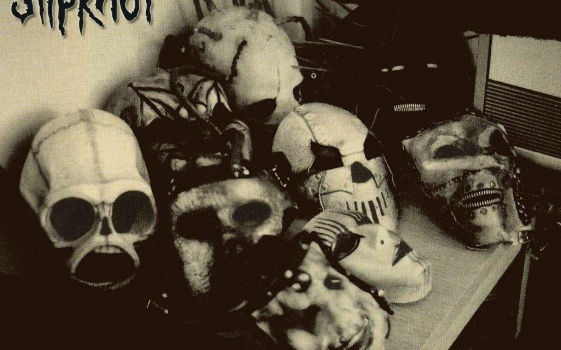 SLIPKNOT nu-metal groove metal heavy dark skull wallpaper