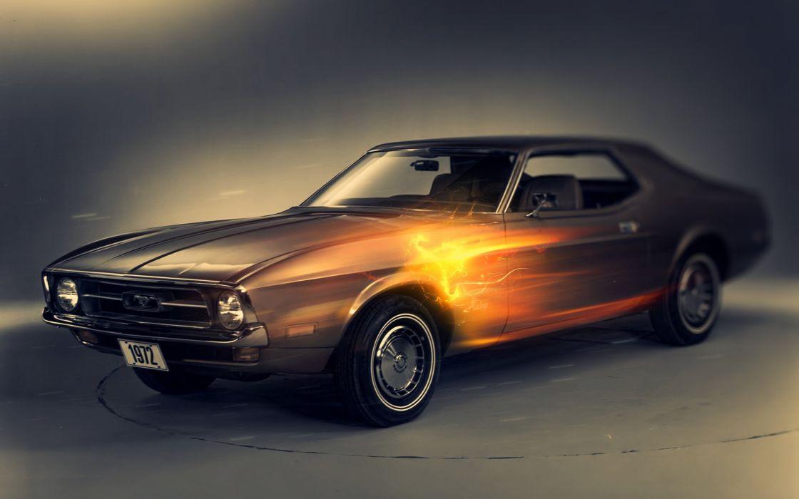 1972 ford mustang-2560x1600 wallpaper
