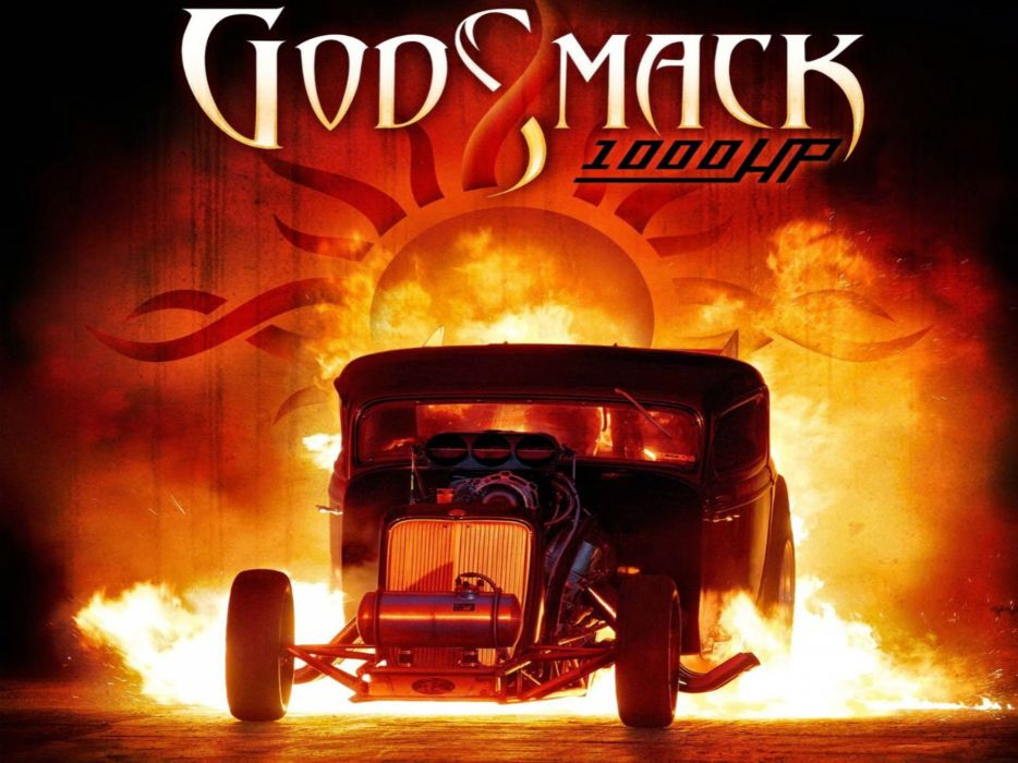 GODSMACK nu-metal metal heavy alternative hot rod rods fire wallpaper