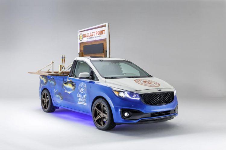 Kia Sedona mobile-bar cars tuning SEMA 2014 wallpaper