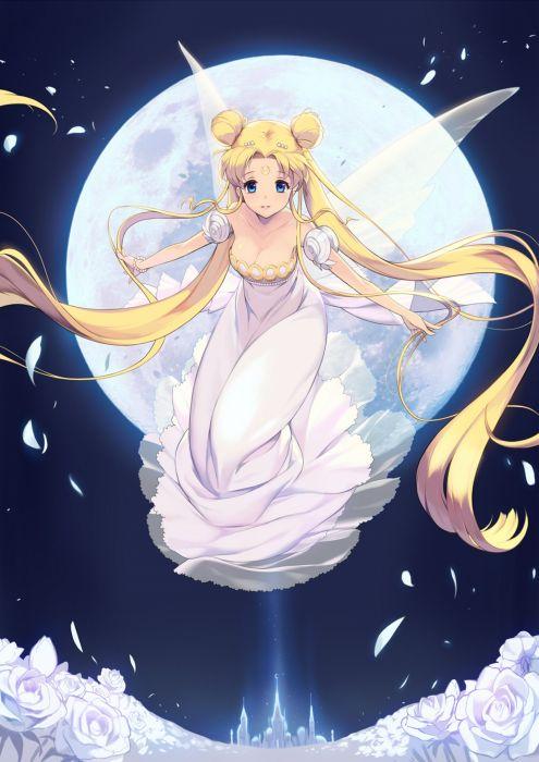 sailor moon petals anime series usagi tsukino wallpaper