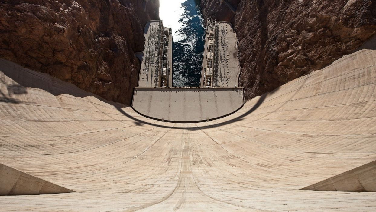 dam river arhitecture wallpaper