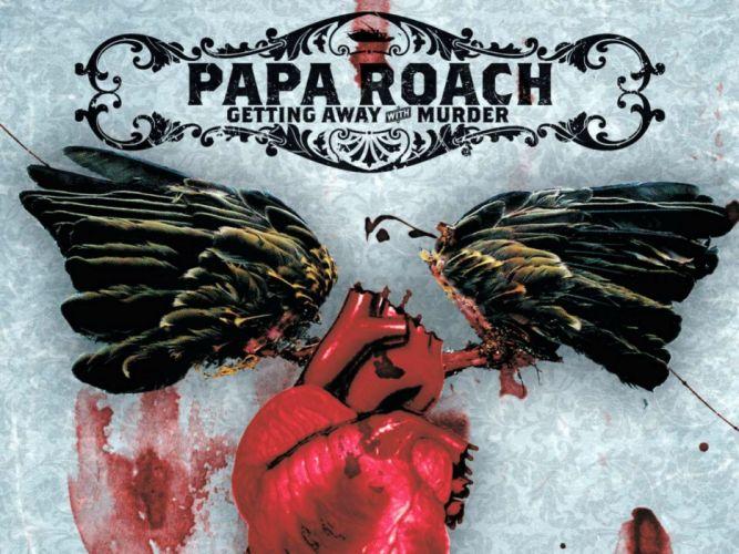 PAPA ROACH nu-metal metal heavy rap rapper dark heart blood wallpaper