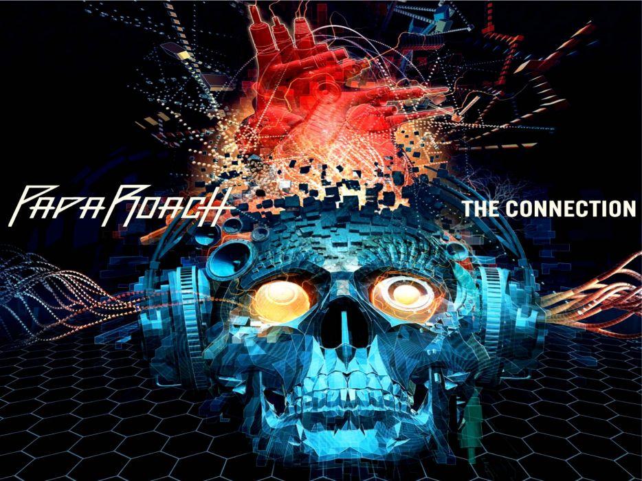 PAPA ROACH nu-metal metal heavy rap rapper skull wallpaper