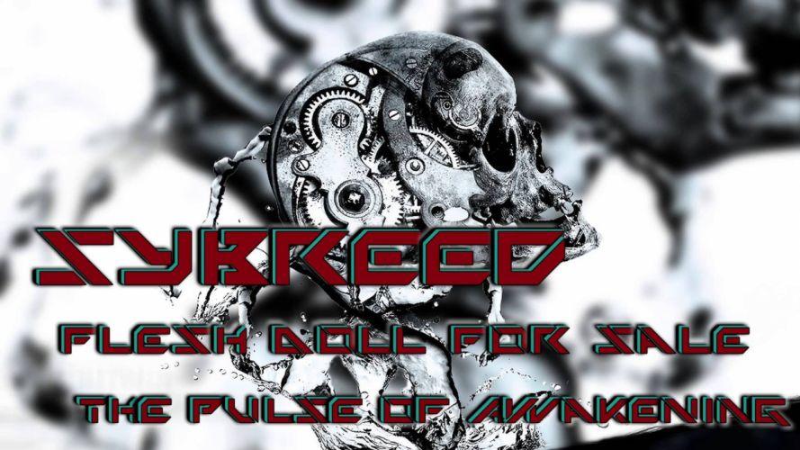 SYBREED industrial metal groove heavy death melodic steampunk sci-fi dark skull wallpaper