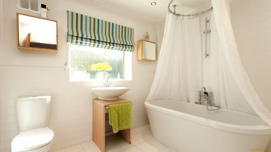interior design home bathroom wallpaper