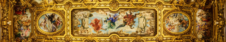 Ceiling of the Grand Foyer Palais Garnier wallpaper wallpaper