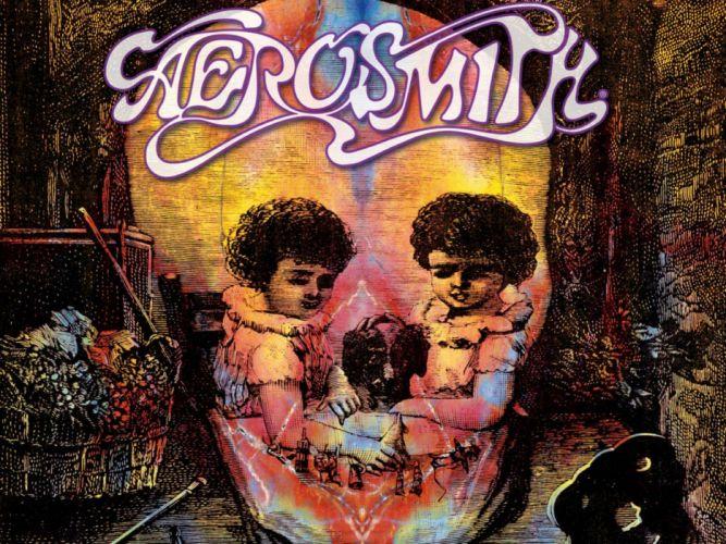 AEROSMITH hard rock glam heavy metal glam dark skull wallpaper