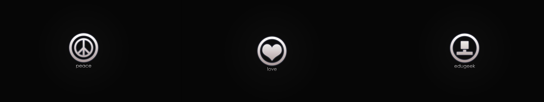 geek - peace - love wallpaper