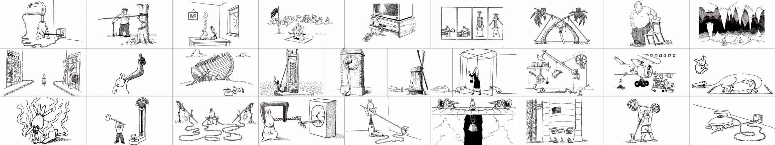 suicide rabbits wallpaper