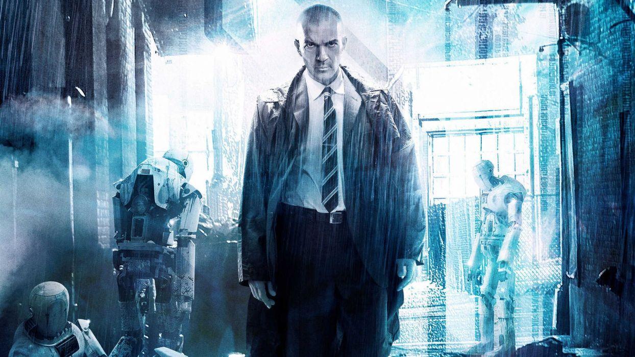 AUTOMATA sci-fi thriller banderas apocalyptic wallpaper
