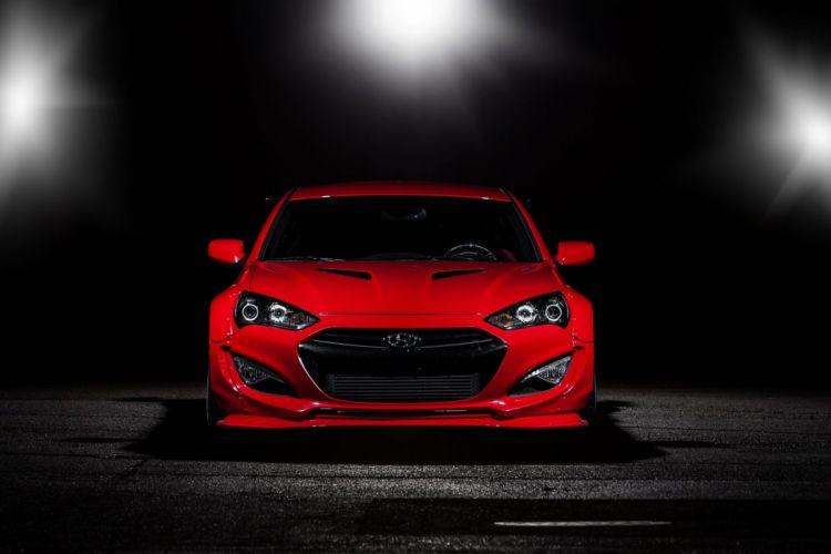 Racing Genesis Coupe Hyundai cars SEMA 2014 tuning wallpaper
