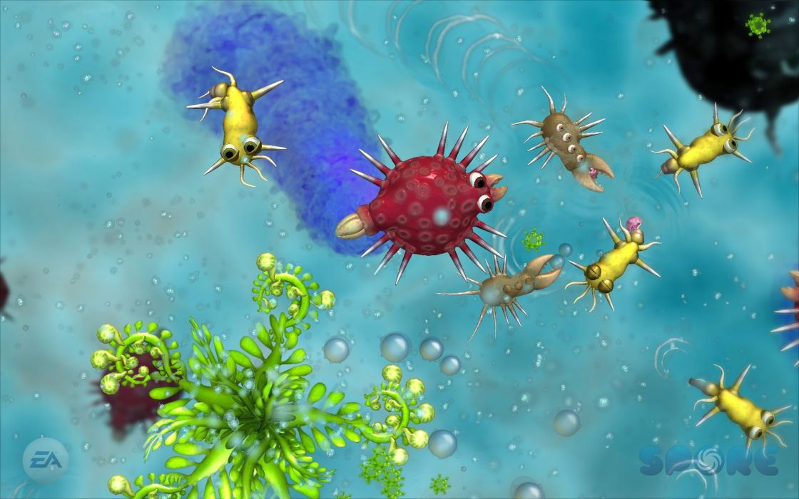 SPORE strategy fantasy simulation creation wallpaper