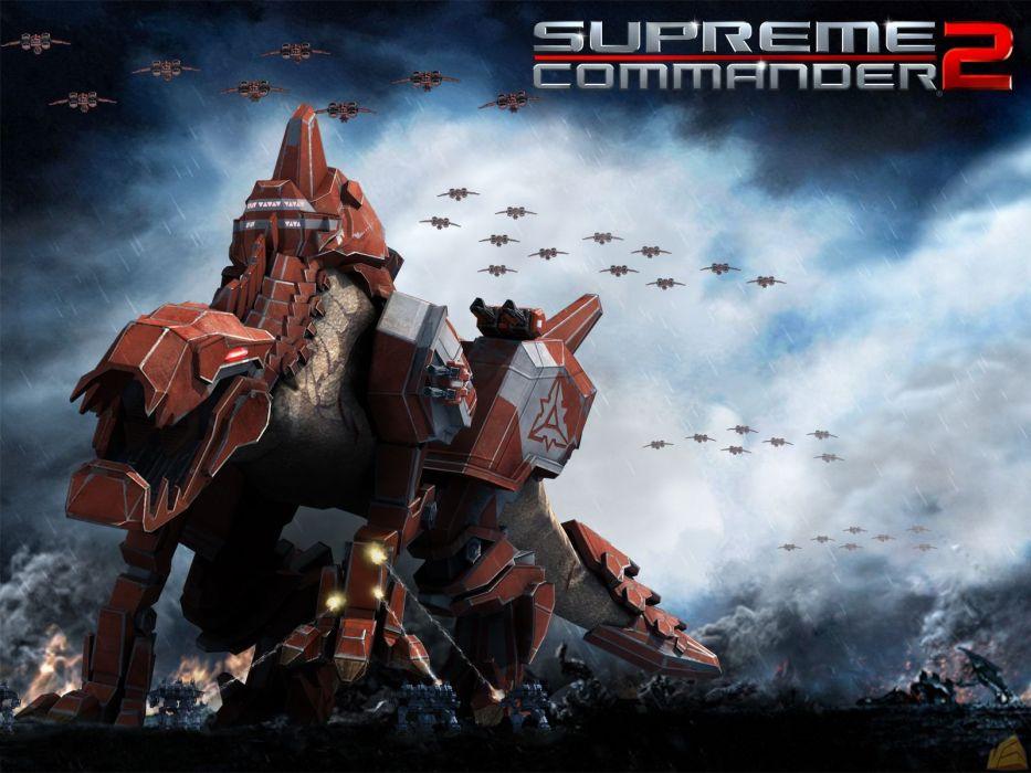 SUPREME COMMANDER strategy sci-fi mecha fighting wallpaper