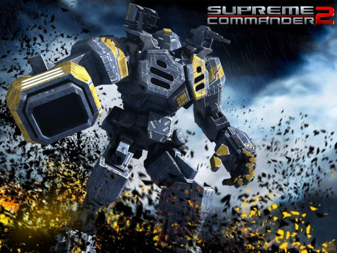SUPREME COMMANDER strategy sci-fi mecha fighting wallpaper