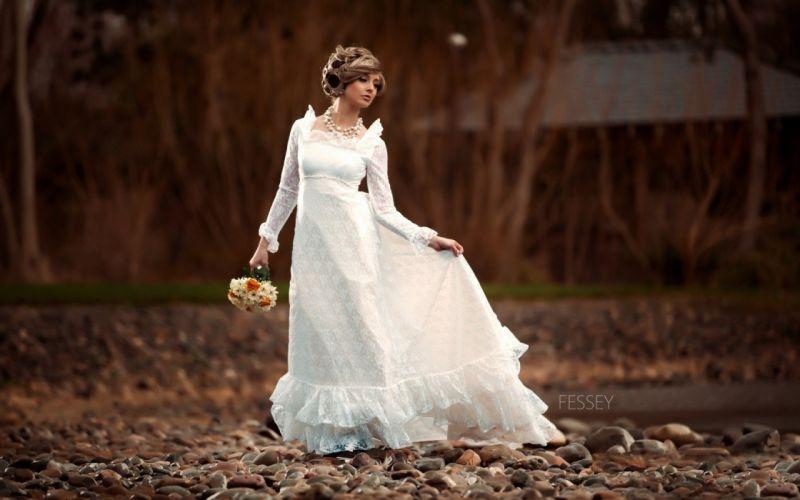 bride dress white wedding love alone beauty wallpaper