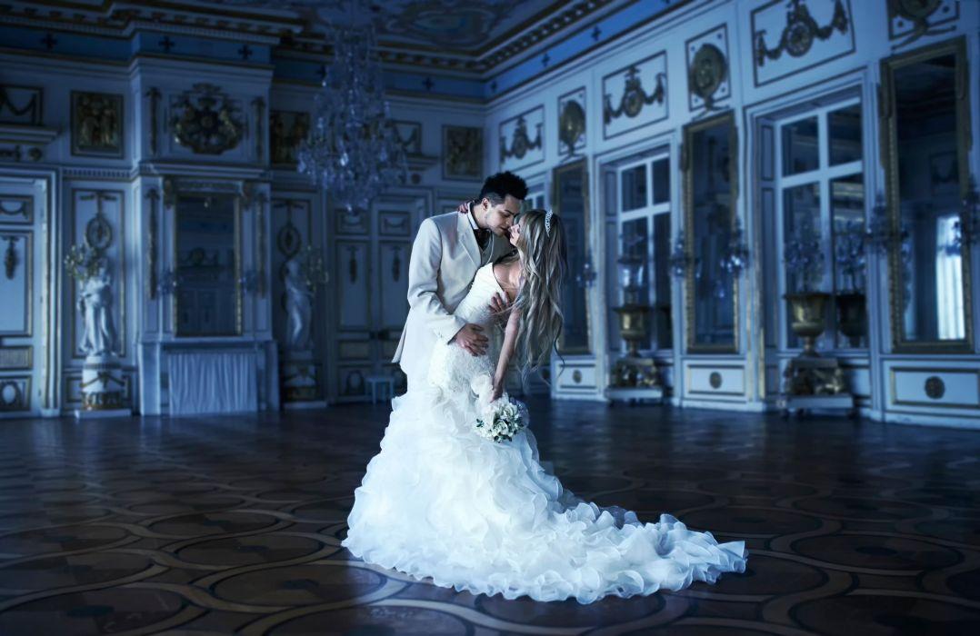 couple dance wedding dress white love sweet wallpaper