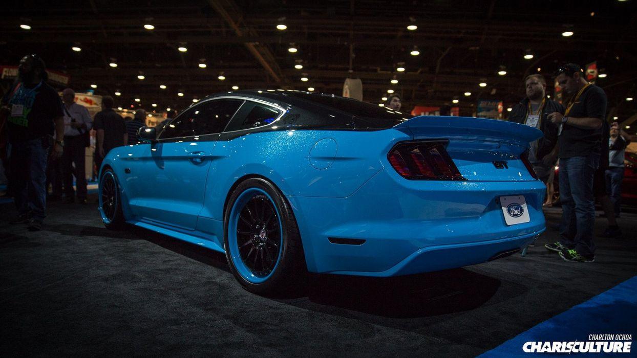2014 cars Ford Mustang sema Tuning wallpaper
