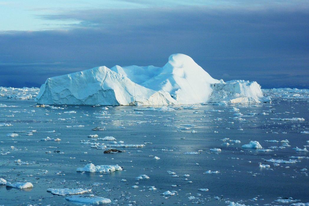 Greenland iceberg cold snow ice ocean growler wallpaper