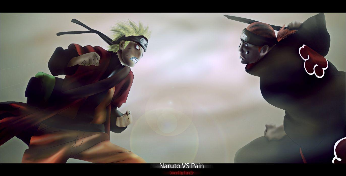 Naruto vs Pain wallpaper