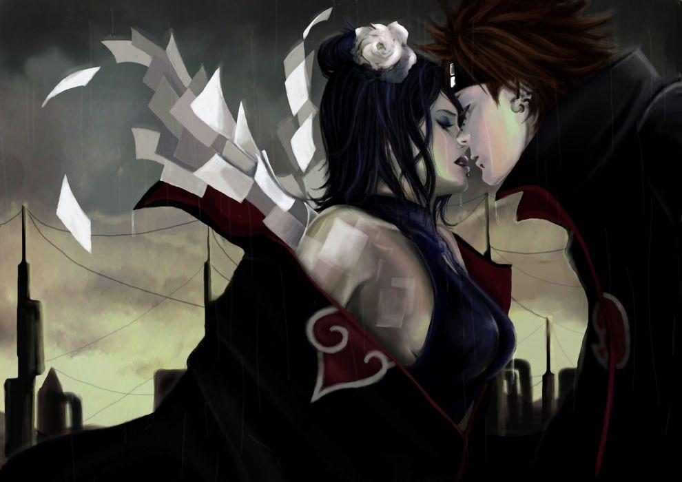 Naruto Pain and Konan wallpaper