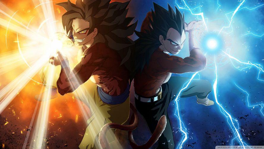 Dragon Ball Gt Goku and Vegeta wallpaper