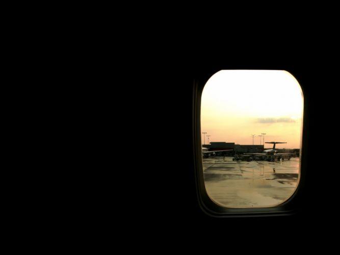 airport plane window wallpaper