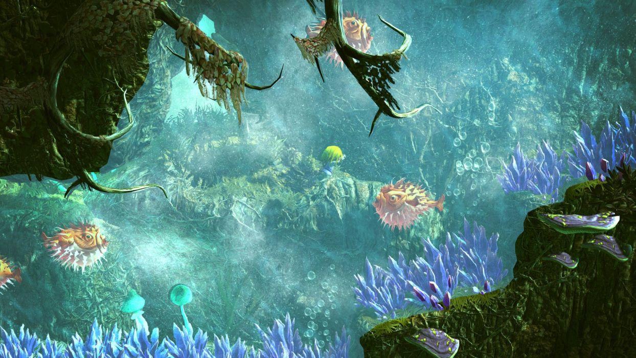 GIANA SISTERS platform puzzle adventure family fantasy underwater wallpaper