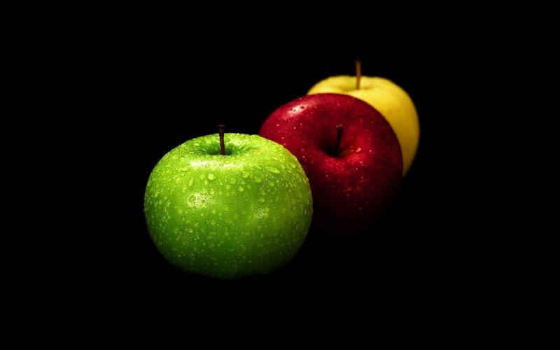 apple red yellow green wallpaper