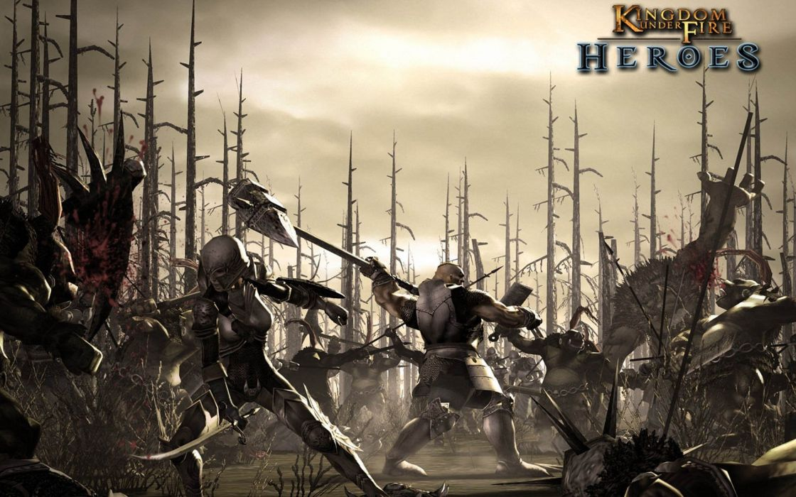 KINGDOM UNDER FIRE strategy fantasy fighting warrior mmo online wallpaper