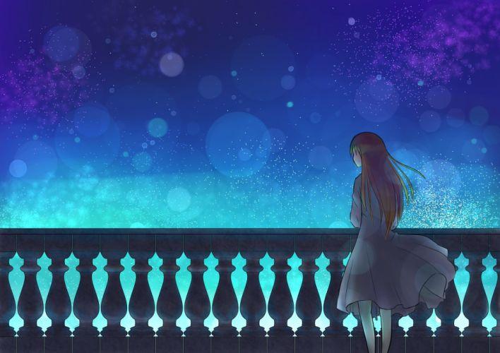 dress mizuki n night original sky stars wallpaper