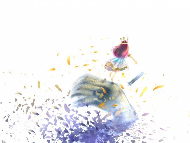 aurora (child of light) child of light crown dress leaves long hair qA wallpaper