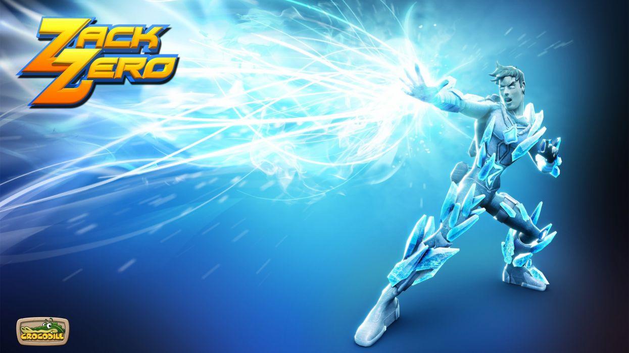 ZACK ZERO platform scrolling adventure sci-fi wallpaper