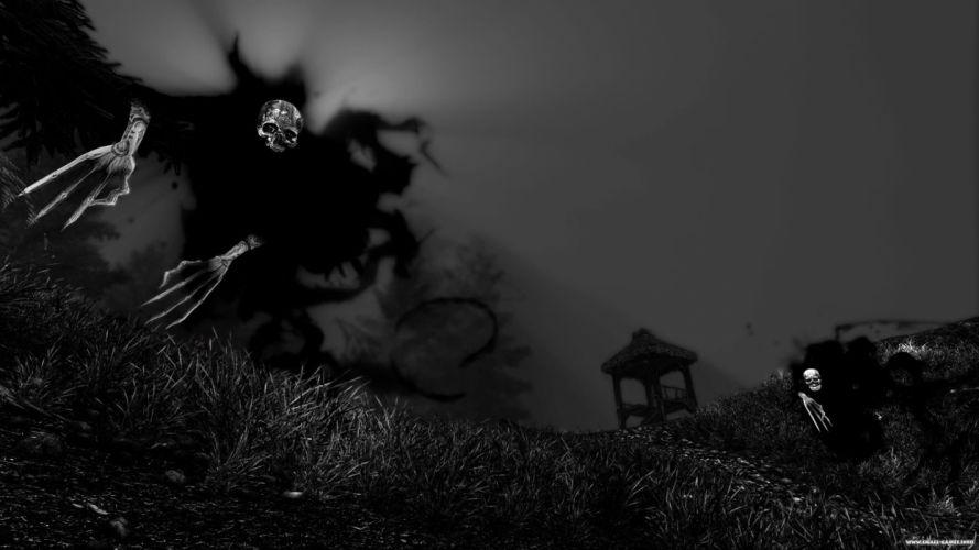 BETRAYER action adventure stealth horror fantasy skeleton skull wallpaper