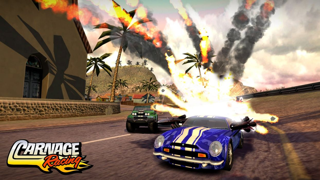 CARNAGE RACING race fighting action wallpaper