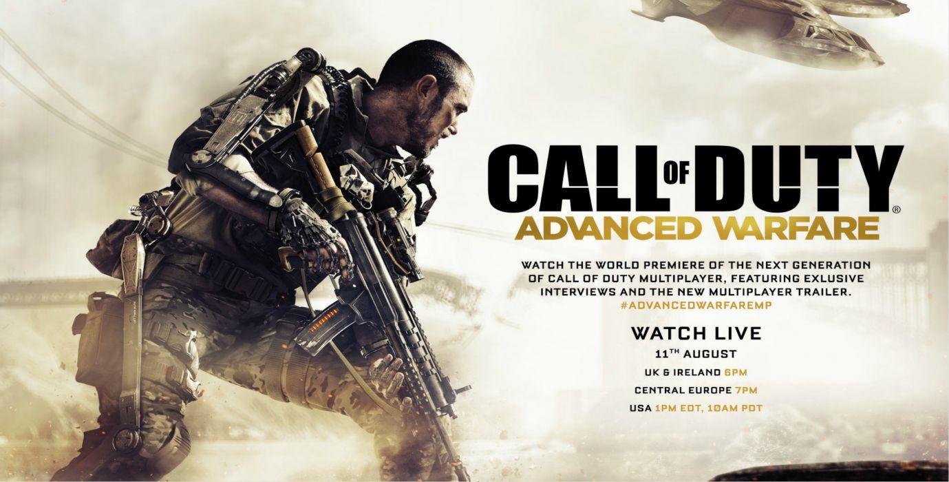 CALL OF DUTY Advanced Warfare fighting sci-fi shooter tactical military warrior futuristic cod wallpaper