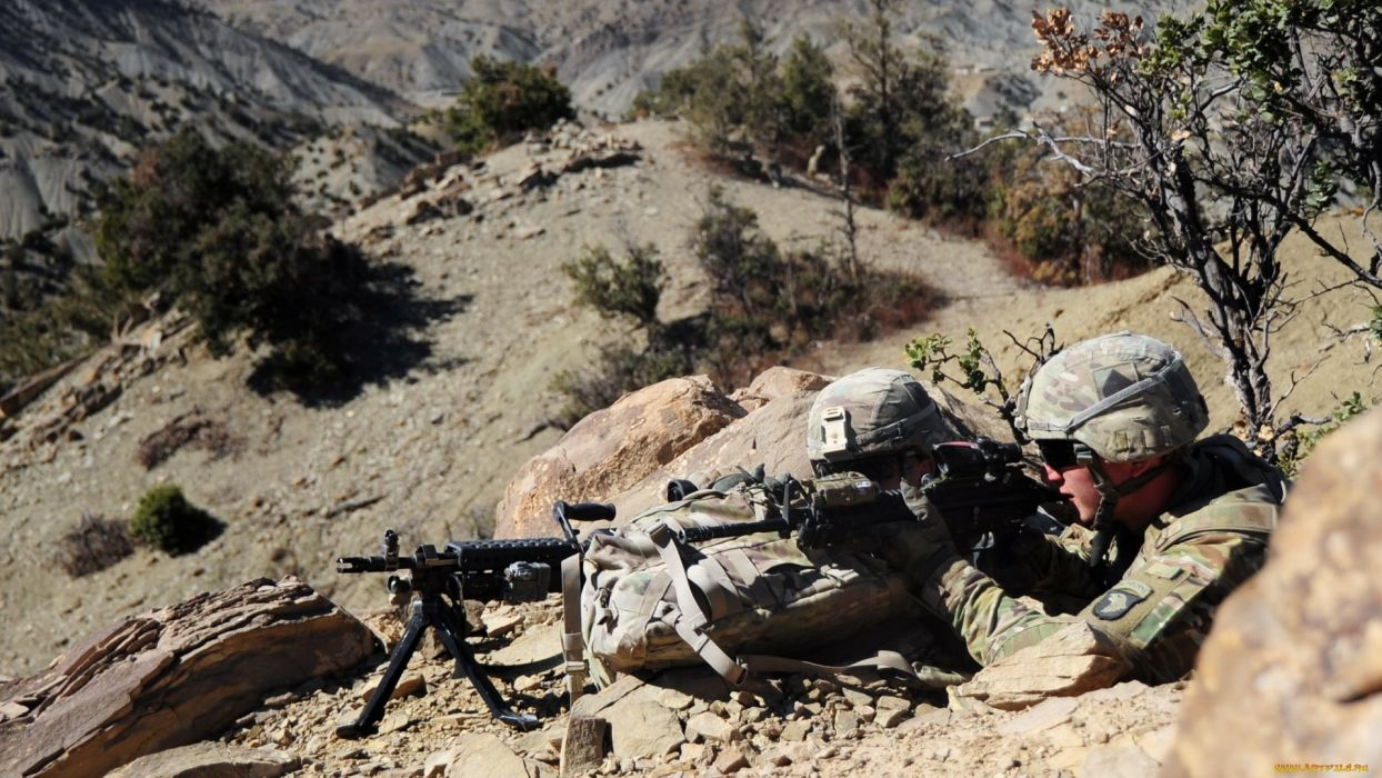 mans army military sniper weapon wallpaper