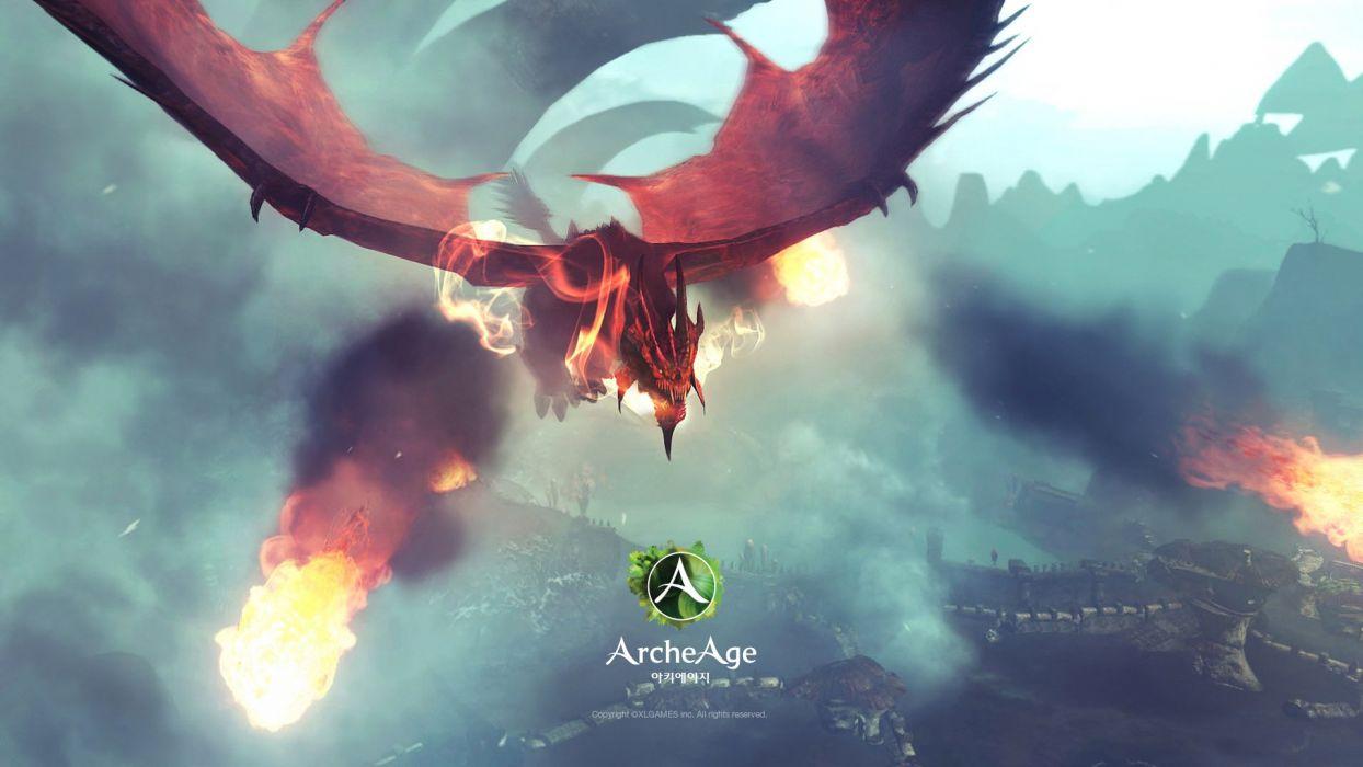 ARCHEAGE fantasy mmo rpg sandbox adventure online dragon wallpaper
