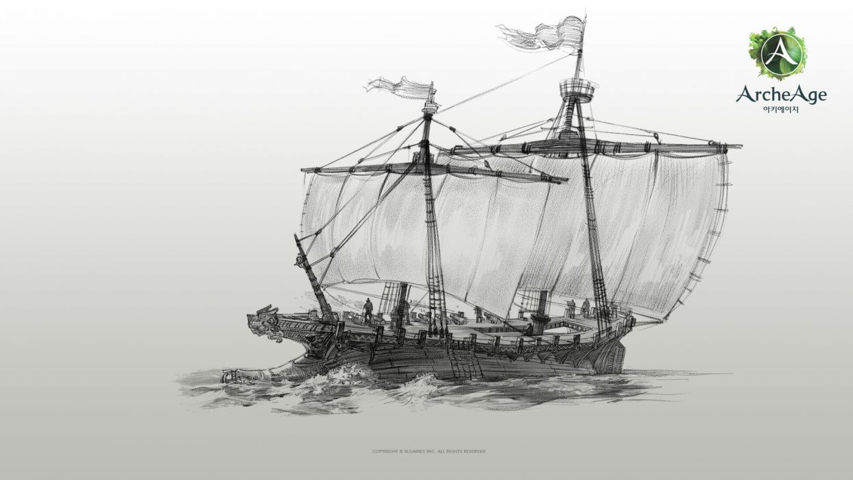 ARCHEAGE fantasy mmo rpg sandbox adventure online pirate ship wallpaper